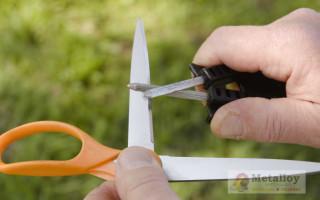 Как и чем можно наточить ножницы в домашних условиях?