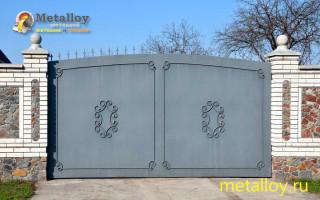 Принципы выбора и изготовления ворот из металла