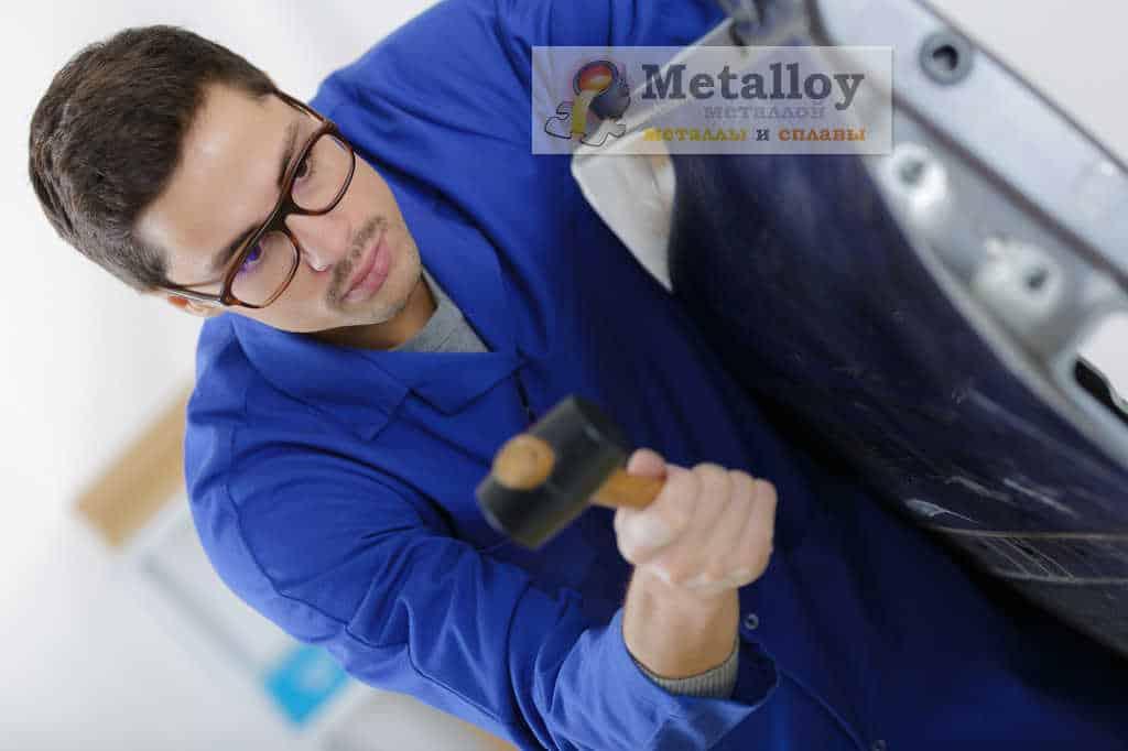 Правка металла киянкой