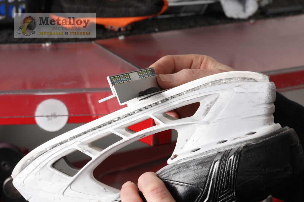 Заточка конька с помощь оборудования
