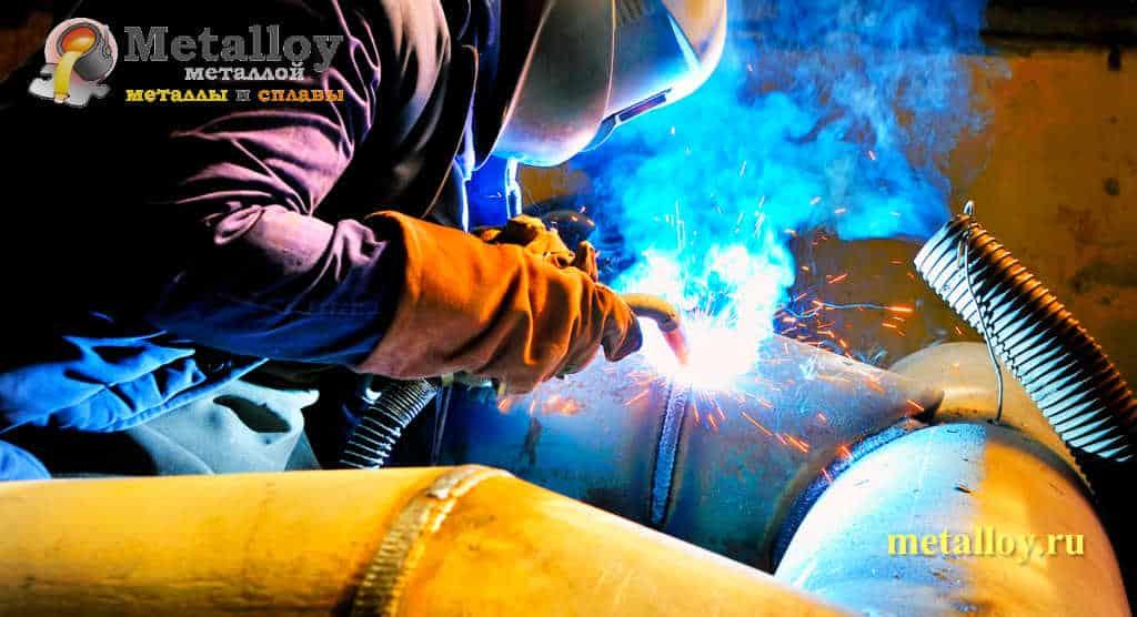 Сварка металлической трубы газом