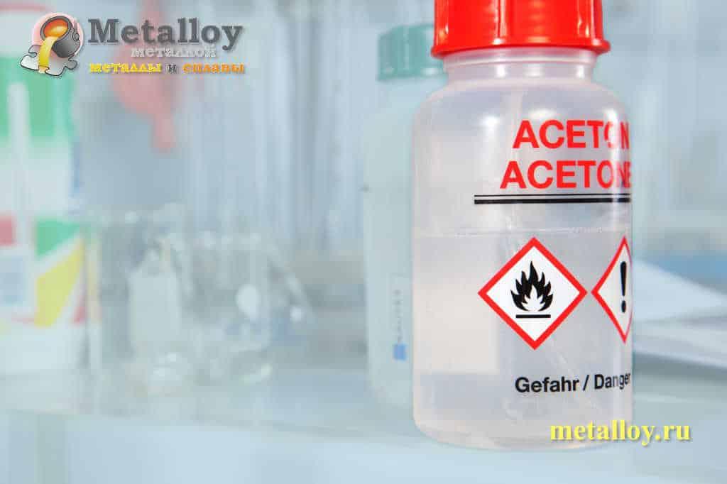 Ацетон для проверки качества шва