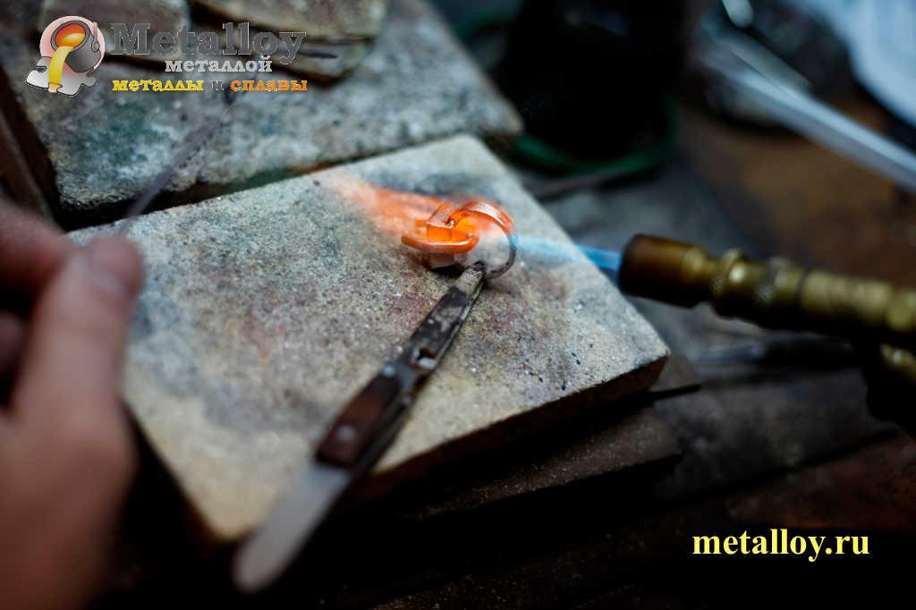Плавление серебра 925 пробы